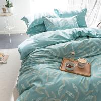 枫叶田园全四件套纯棉三4件套床单床笠床品套件新款双人秋季天
