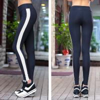 健身裤女 弹力紧身运动长裤高腰弹力无缝跑步长裤拼接瑜珈速干裤