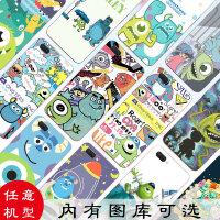 迪士尼oppoa5手机壳a3怪兽大学a83a1软a59s a57a37a77卡通a53可爱