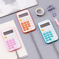 计算机可爱韩国糖果色清新个性创意学生用考试迷你计算器小型便携