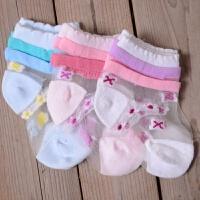 婴儿袜子夏季超薄款女宝宝丝袜0-1-3岁6-12个月儿童新生儿水晶袜