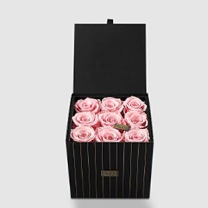 幸阁 进口花材礼盒永生花九朵玫瑰 PE007情人节圣诞节生日礼物送女友创意礼品