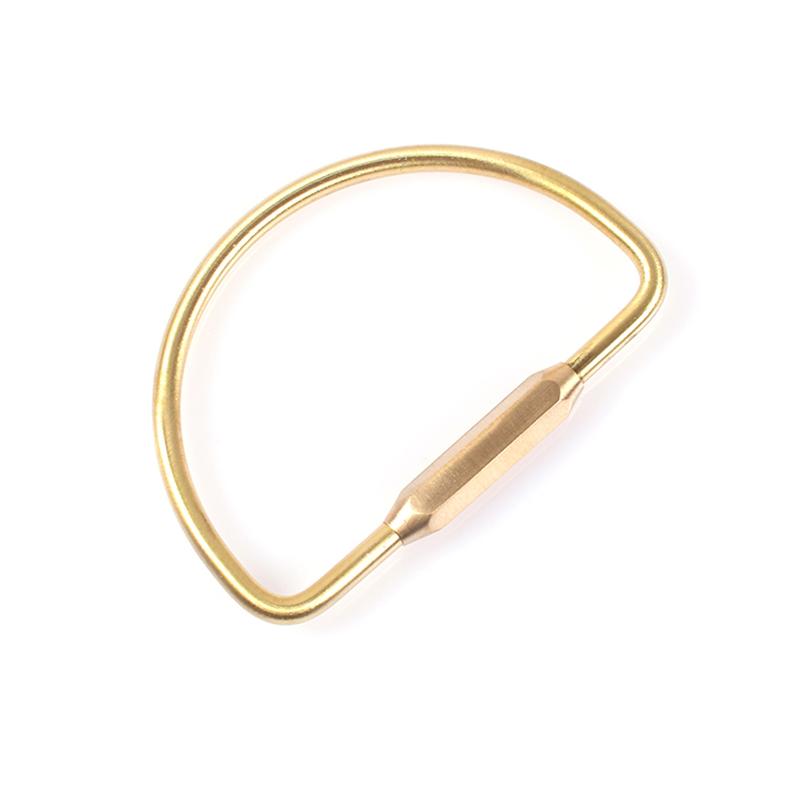 黄铜钥匙扣 创意黄铜钥匙挂环 男女汽车钥匙扣金属钥匙圈大环 钥匙扣大容量 EDC工具