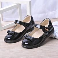 儿童皮鞋6女童黑色公主鞋8表演出鞋大童10小学生皮鞋15白色女单鞋