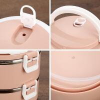 学生带盖三便携女手提饭桶不锈钢多层保温饭盒便当盒