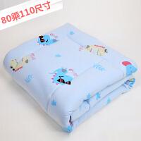 新生儿小垫子小褥子可洗尿垫婴儿床棉垫子宝宝床垫棉被垫被子 一条装【蓝色小恐龙】 80乘110