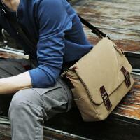 3件7折潮流男士包包单肩包斜挎包帆布包男背包休闲邮差包斜跨包学生书包