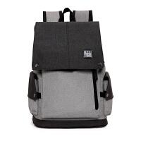 男士双肩包大容量休闲青年电脑背包旅行简约学生时尚潮流学生书包