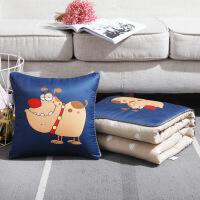 汽�抱枕被子�捎每空碥�用抱枕毯子可折�B多功能靠�|腰�|��d用品