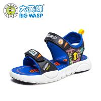 大黄蜂童鞋 儿童凉鞋男孩时尚露趾夏季鞋2020新款男童运动沙滩鞋