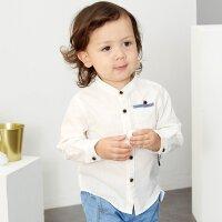 【2件1.5折价:16.4】米喜迪mecity童2019夏新款男宝宝长袖衬衫休闲婴儿纯棉衣服