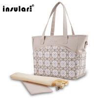 5妈咪包多功能大容量婴儿外出包手提斜跨包时尚妈妈包母婴包