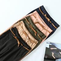 掌柜推荐 韩系优雅显瘦纯色哈伦裤 高腰铅笔裤女士薄款长裤 A778