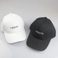 字母刺绣男棒球帽女鸭舌帽情侣运动帽高尔夫球帽子 M(56-58cm)