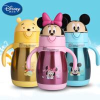 迪士尼宝宝学饮杯保温吸管杯儿童水杯婴儿鸭嘴杯子不锈钢防漏防摔