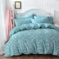 棉四件套田园1.8m床笠三件套床上用品1.2m碎花床单被套1.5m