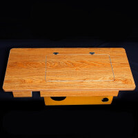 老式缝纫机台板脚踏实木 家用裁缝机通用二斗衣车板配件台面 自行组装