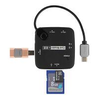 联想TAB4 Plus 8平板电脑配件type-c转usb线TB-8704F/N OTG转接线 黑色【Type-C转U