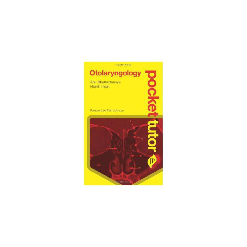 【预订】Pocket Tutor Otolaryngology 美国库房发货,通常付款后3-5周到货!