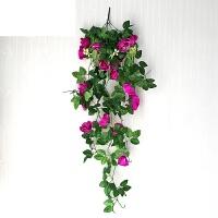 艾欧唯 仿真玫瑰花藤壁挂吊篮假花藤绢花客厅室内外婚庆墙面垂吊装饰花艺