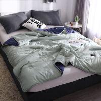 保暖绿色结婚蓝色女童纤维高中生秋季睡眠简易女孩个性被子寝室