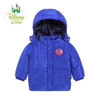 【限时抢:69】迪士尼Disney宝宝大衣男童外套棉袄夹棉保暖外套秋冬款164S857