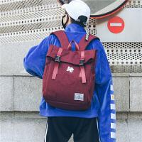 背包男士书包学生校园新款休闲旅行包韩版时尚潮流复古青年双肩包