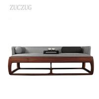 ZUCZUG新中式沙发实木禅意家具组合酒店会所样板房售楼处茶楼样板房定制