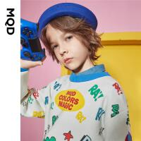【2件3折后价:150】MQD童装男童满版针织衫2021春秋新款儿童韩版洋气套头花版毛衣潮