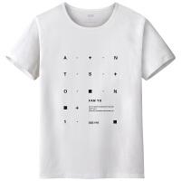 千帅 纯棉短袖T恤男夏季薄款上衣修身圆领短T纯色印花男士打底衫男VZTX17058