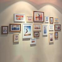 18框加宽欧式实木照片相片墙相框墙创意组合 大墙面客厅大框挂墙