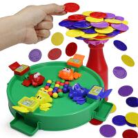 脑力大作战叠叠乐瓶子挑战赛 儿童亲子互动桌面游戏青蛙吃豆玩具