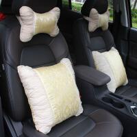 车用头枕一对汽车用护颈枕头腰靠四季通用车载靠枕对装车内抱枕女