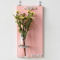 创意壁饰墙面墙上装饰品田园壁挂玻璃花瓶迷你悬挂水培花器 M0826-8 【黄雏菊】