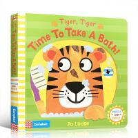 英文原版绘本 Wiggle and Giggle Tiger, Tiger, Time to Take a Bath!