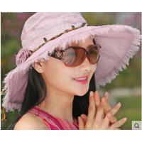 新品大沿遮脸沙滩遮阳帽女折叠防晒帽登山骑车太阳帽女