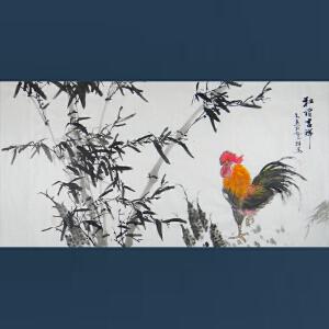 嵩山书画院理事    齐高远   和谐吉祥   /012