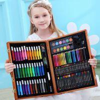 儿童画笔套装礼盒画画工具绘画彩笔学习用品水彩笔蜡笔美术工具箱