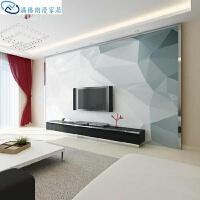 壁画挂画客厅装饰画几何简约装饰背景墙纸墙壁立体电视小户型壁画客厅创意 仅墙纸