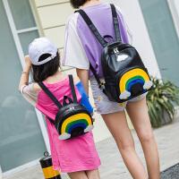 3-6岁男女宝宝书包双肩背包云彩亲子包儿童包包带牵引绳
