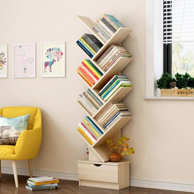 【1件3折 领券】百变组合环保加厚树型书柜 支持* 个性释放 经典时尚
