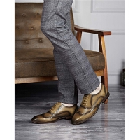 红蜻蜓真皮男鞋春季新款正品英伦真皮鞋子男正装布洛克鞋