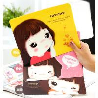 韩版人气创意 可爱妞鼠标垫 电脑周边用品 卡通鼠标垫 电脑配件