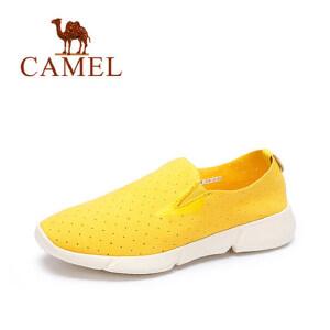 camel 骆驼女鞋 新款时尚休闲运动鞋 舒适轻便透气鞋低跟平底鞋圆头单鞋