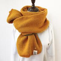 围巾女秋冬季韩版百搭学生ins少女双面加厚长款软妹针织毛线围脖