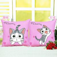 FGHGF 5D抱枕十字绣新款卡通动漫可爱猫客厅卧室沙发汽车印花枕套