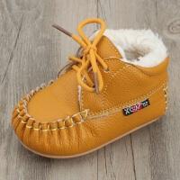 2018冬季宝宝棉鞋真皮幼儿学步鞋防寒加厚防滑保暖婴儿不掉鞋