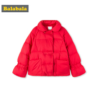 巴拉巴拉羽绒服女童2018新款冬季大童儿童外套上衣保暖韩版时尚女