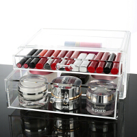 面膜盒子收纳盒 透明抽屉化妆品整理盒梳妆台面膜收纳盒
