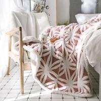 ???双层加厚保暖羊羔绒毛毯秋冬法莱绒单双人沙发毯双面学生盖毯冬季